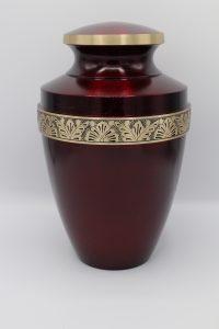 Simply Cremations Urn - Grecian Crimson