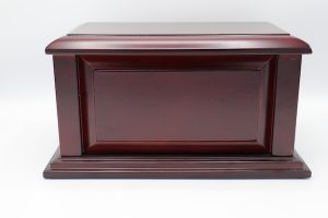 Simply Cremations Wood Urn - Manchester Cherry